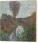 Small Branch Of The Seine Wood Print