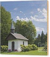 Small Chapel In Bavaria Wood Print