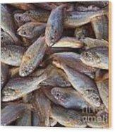 Small Edible Fish For Sale Wood Print