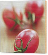 Small Tomatoes Wood Print by Elena Elisseeva