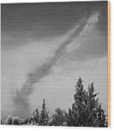 Small Tornado Blowing Out In Countryside Of The Republic Of Cyprus Europe Wood Print