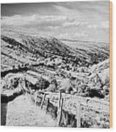 Small Twisty Narrow Country Mountain Road Through Glendun Scenic Route Glendun County Antrim Wood Print by Joe Fox