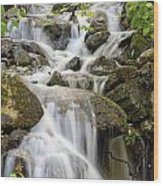 Small Waterfalls And Brook West Bolton Wood Print