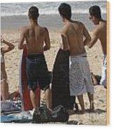 Smile Boys Bondi Beach Australia Wood Print