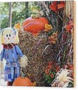 Smile It's Autumn Wood Print