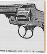 Smith & Wesson Revolver Wood Print