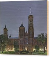 Smithsonian Castle Wood Print by Metro DC Photography