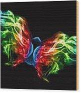 Smoke Butterfly Wood Print by Alice Gosling
