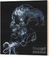 Smoke Five Wood Print