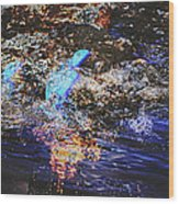 Smoke On The Water Wood Print by Kelly Reber