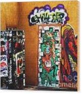 Smoke Shop Grafitti Art  Wood Print