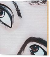 Smokey Eyes Of A Woman Wood Print