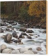 Smokey Water Wood Print