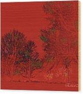 Smokey Woods Wood Print