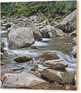 Smoky Mountain Streams Wood Print