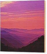 Smoky Mountain Sunrise 005 Wood Print
