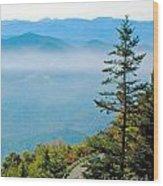 Smoky Mountain View Wood Print