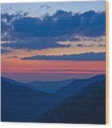 Smoky Mtn Sunset Wood Print