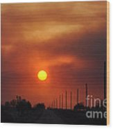 Smoky Sun2 Wood Print
