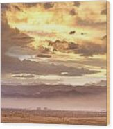 Smoky Sunset Over Boulder Colorado  Wood Print