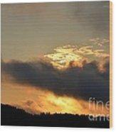 Smoldering Sunrise Wood Print