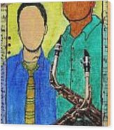 Smooth Jazz Wood Print
