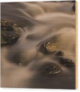 Smooth Rapids Wood Print