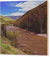 Snake River And Rafters Wood Print