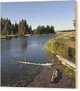 Snake River At Schwabacher Landing  Wood Print