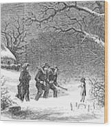 Snaring Rabbits, 1867 Wood Print