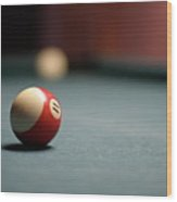 Snooker Ball Wood Print by Photo by Andrew B. Wertheimer