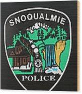 Snoqualmie Police Wood Print