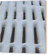 Snow Abstract 4 Wood Print