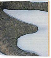 Snow Abstract Wood Print