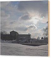 Snow At The Art Museum - Philadelphia Wood Print