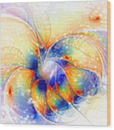 Snow Blossom Wood Print