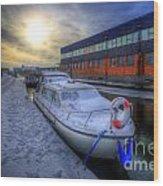 Snow Boat 1.0 Wood Print