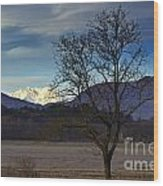 Snow-capped Monte Rosa Wood Print