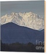 Snow-capped Mountain Monte Rosa Wood Print