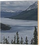 Snow-capped Moutains Rise Wood Print