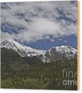 Snow Capped San Juans Wood Print