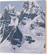 Snow-covered Mountains On Wienke Wood Print