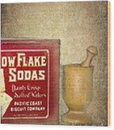Snow Flake Soda Crackers Wood Print