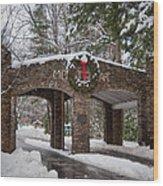 Snow Gate  Wood Print