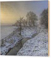 Snow Landscape Sunrise 2.0 Wood Print