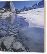 Snow Melting Wood Print by David Nunuk