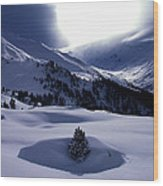 Snow Mountain Austria  Wood Print by Colette V Hera  Guggenheim