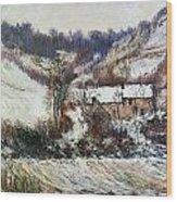 Snow Near Falaise Wood Print