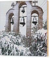 Snow On Campanile Wood Print
