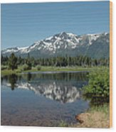 Snow Reflections Mt Tallac Wood Print
